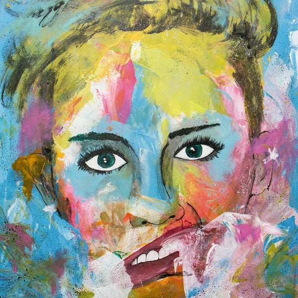 Miley Cyrus Portrait - Pop Art 90x70cm