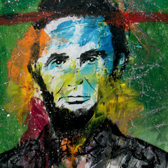 SOLD - President Abraham Lincoln - Pop Art 90x70cm