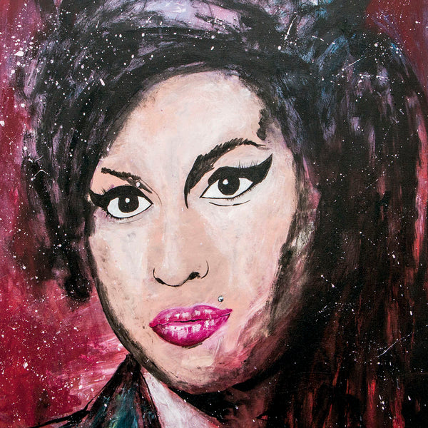 Amy WineHouse Portrait - 90x70cm