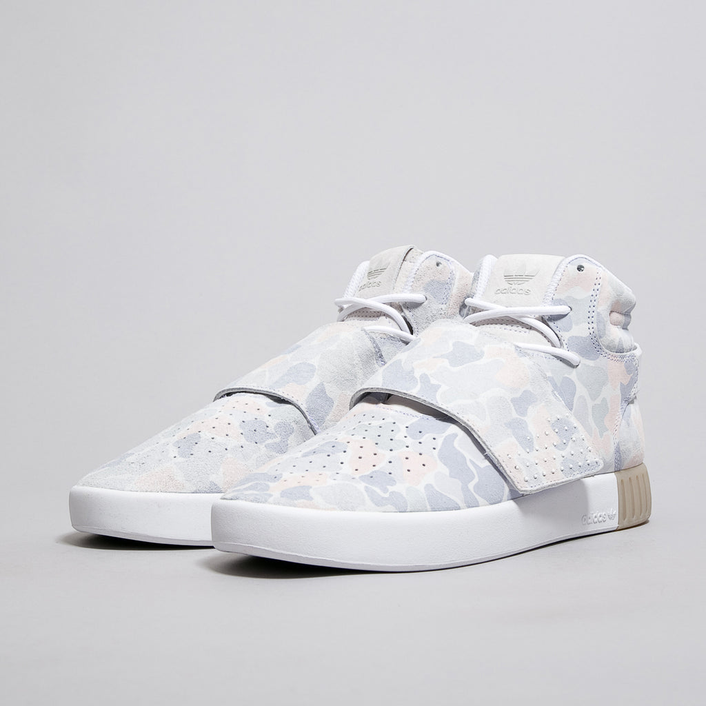 Adidas Men s Originals Tubular Invader Strap Duck Camo -Ftw White  Ftw White   Light Solid Grey Adidas Men s Originals Tubular Invader Strap Duck Camo  -Ftw ... 7773f4b49