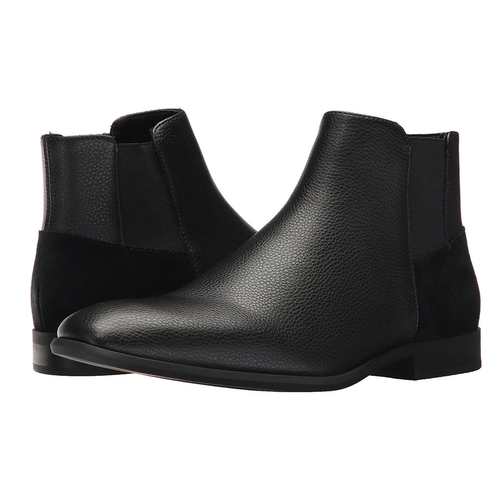 93b055f70c7 Calvin Klein Men's Larry Tumbled Leather Ankle Bootie - Black Tumbled  Leather