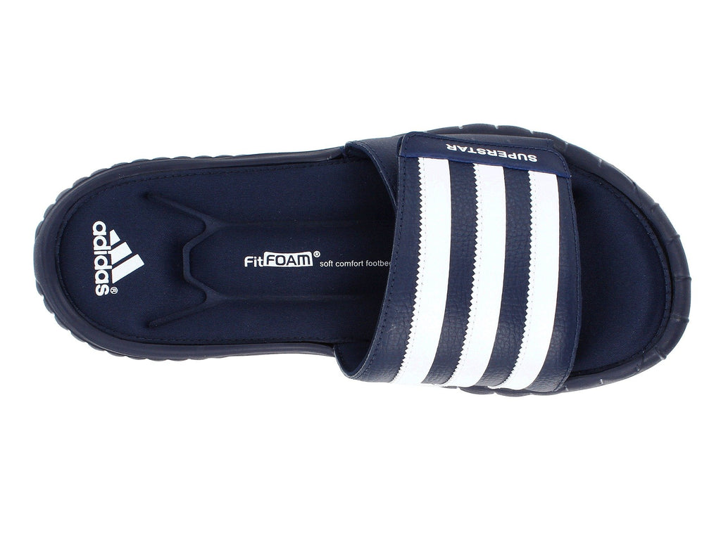 e60e8ab9d7a61d adidas Men s Superstar 3g Slide Sandal-Collegiate Navy White adidas Men s  Superstar 3g Slide Sandal-Collegiate Navy White