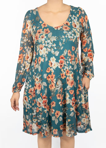3X Aster Woven Popover Dress - Paisley Raye