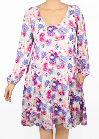 XL Aster Woven Popover Dress - Paisley Raye