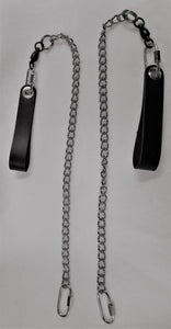 Poi Leash Set - Twisted Link Chain