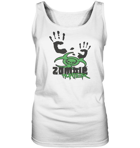 Zombie Hunter Weiß Ladies Tank-Top
