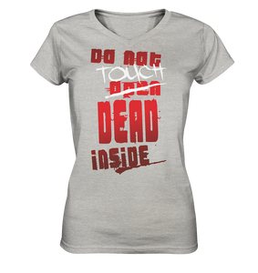Zombies Inside Do Not Touch Ladies V-Neck Shirt