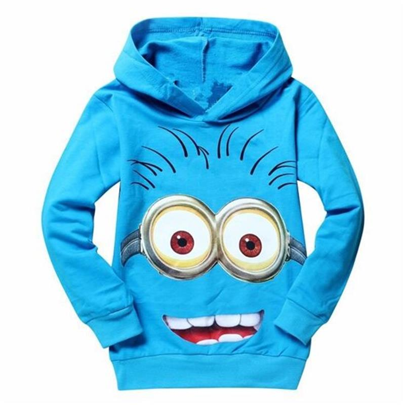 New 2018 hot sale fashion cartoon long sleeve hooded cotton kids baby girls boys children hoodies sweatshirts sweaters