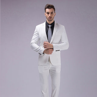 12 Color 2pcs Slim Fit Suits Men Notch Lapel Business Wedding Groom Leisure Tuxedo 2018 Latest Coat Pant Designs S-4XL