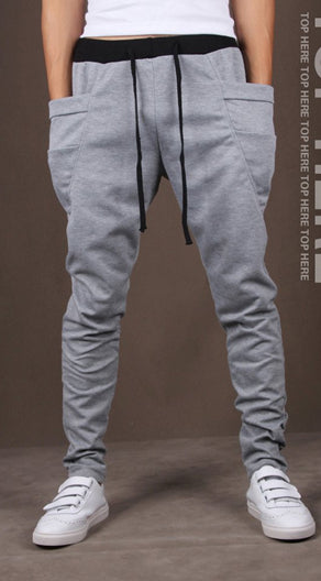 8 Colors 2018 Unique Pocket Mens Joggers Cargo Men Pants Sweatpants Harem Pants Men Jogger Pants Men Pantalones Hombre