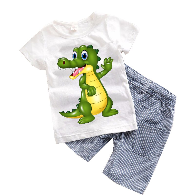 bb1a325468cc 2PCS Suit Baby Boy Clothes Children Summer Toddler Boys Clothing set  Cartoon 2018 New Kids Fashion ...