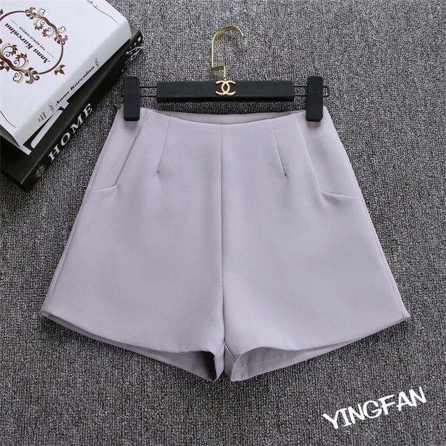 2018 New Summer hot Fashion Women Shorts Skirts High Waist Casual Suit Shorts Black White Women Short Pants