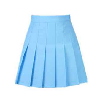 summer American School Style Fashion Women elegant half Pleated mini Skirts high waist casual girls skirts women leggings skirt - Forefront Outfitters Inc.