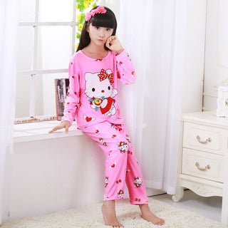 2018 Autumn & Spring Baby Sleepwears Suits Lovely Girls Pajamas Children Pyjamas Girls Cartoon Pajamas Kids Clothing se8