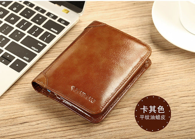 7c69c7bf0b53b ... 2018 New Wallet Genuine Leather Men Wallets Short Male Purse Card  Holder Wallet Men Fashion High
