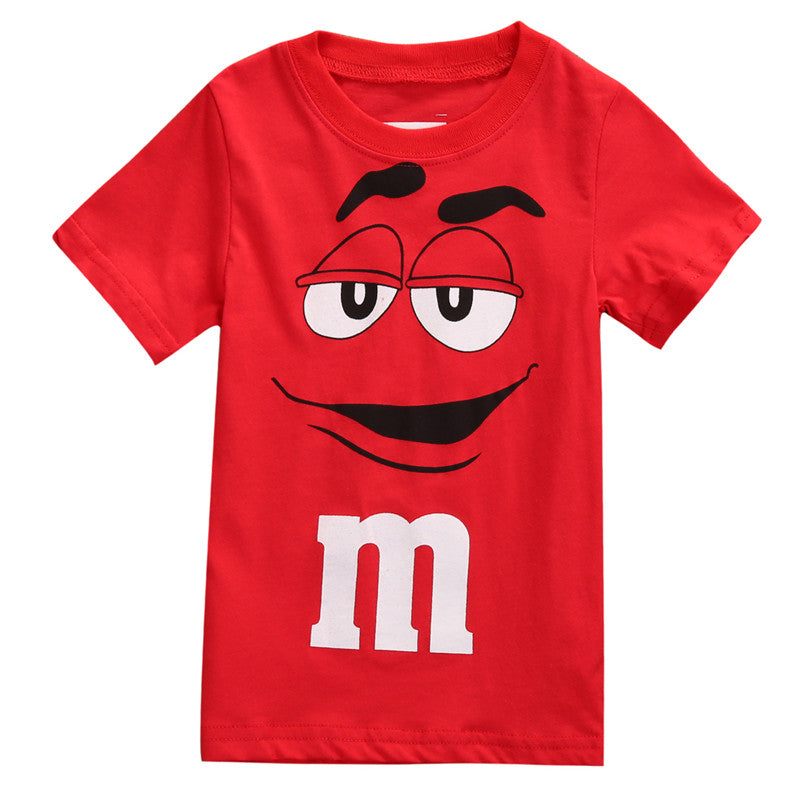 New Style Fashion Personalised Cartoon Boy Kids Clothes Tee T-Shirt Short Sleeve Top Casual Summer Baby Clothing Age 2-7Y
