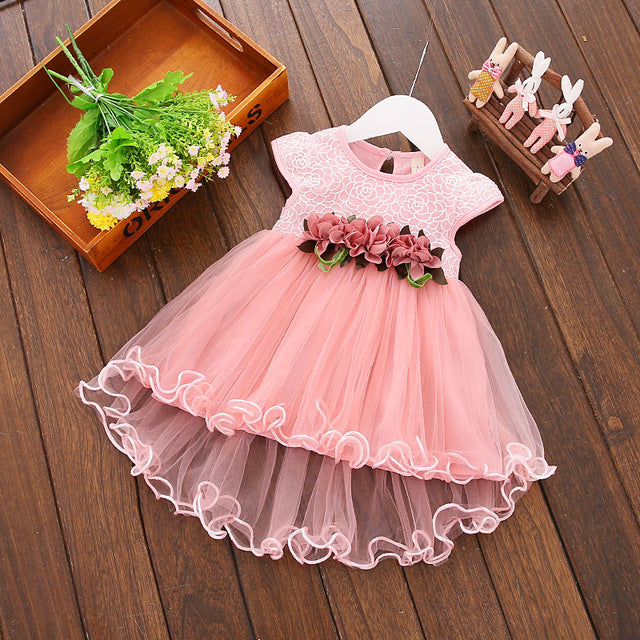 6e0be8f2708 2018 Multi-style Super Cute Baby Girls Summer Floral Dress Princess Party  Tulle Flower Dresses 0-3Y Clothing