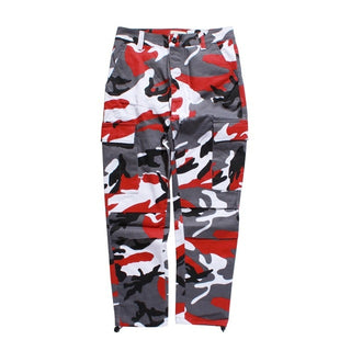 Color Camo Cargo Pants 2018 Mens Fashion Baggy Tactical Trouser Hip Hop Casual Cotton Multi Pockets Pants Streetwear