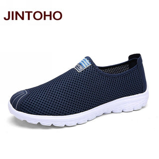 JINTOHO Unisex Summer Breathable Mesh Men Shoes Lightweight Men Flats Fashion Casual Male Shoes Brand Designer Men Loafers
