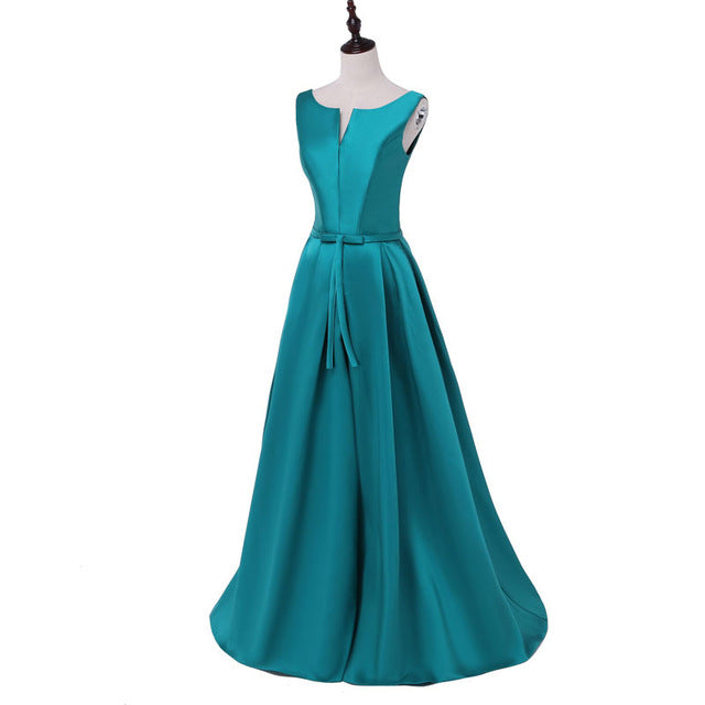 2018 Hot sale elegant evening dresses V-opening back prom formal party dress vestidos de festa style dress