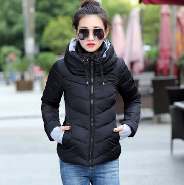 New Arrival Ladies Fashion Coat Winter Jacket Outerwear  Short Wadded Jacket Female  Padded Parka Overcoat Women MC1095