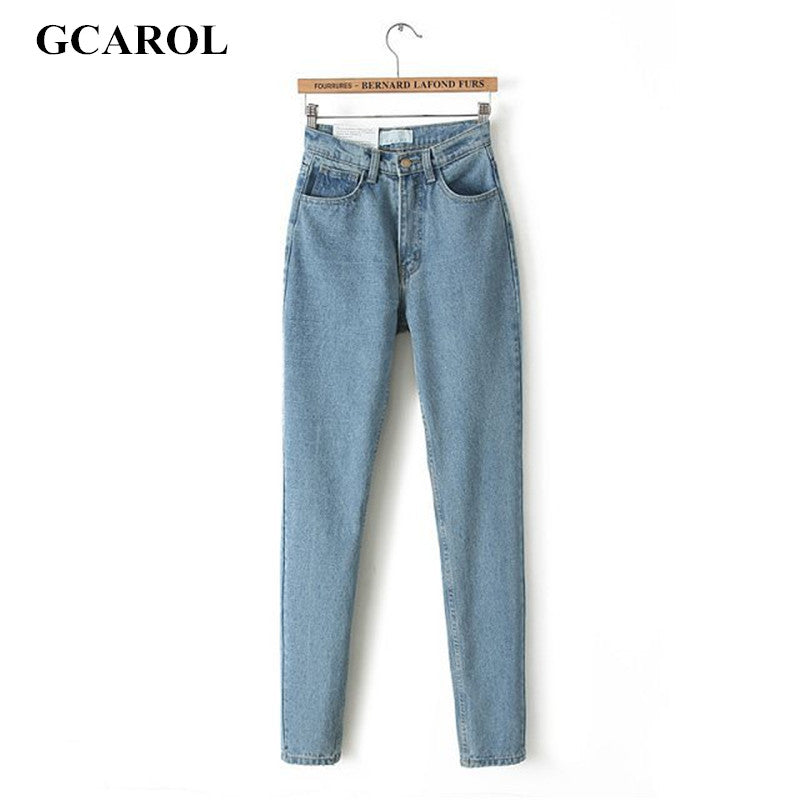 Euro Style Classic Women High Waist Denim Jeans Vintage Slim Mom Style Pencil Jeans High Quality Denim Pants For 4 Season