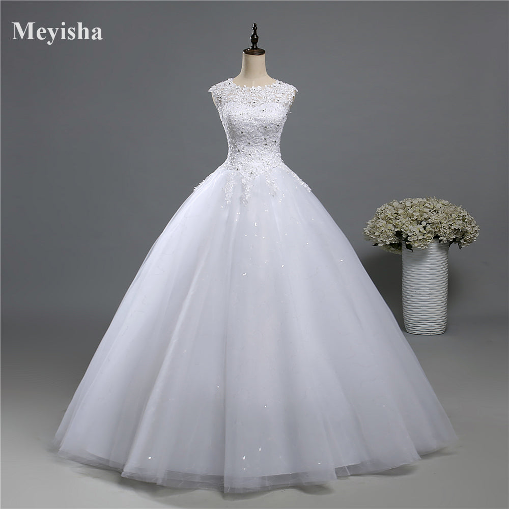 ZJ9139 Ball Gown Real Images Lace Tulle Wedding Dress 2018 Bridal Dres