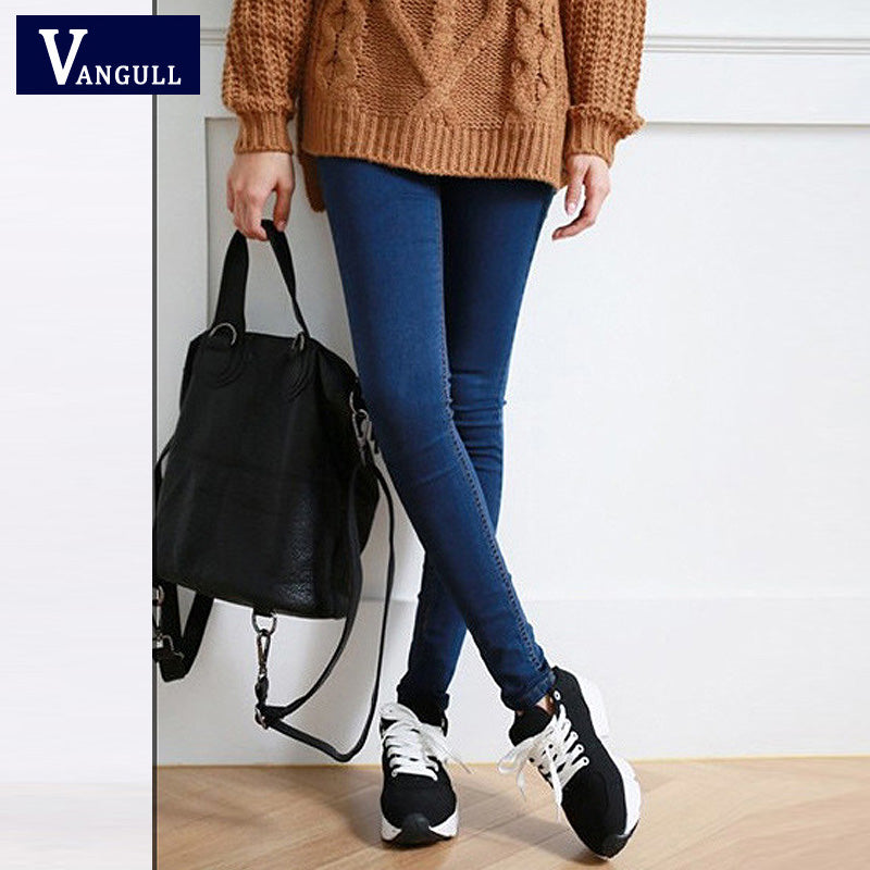 Skinny Jeans Woman Autumn New 2018 High Quality Women Fashion Slim Jeans Female washed casual skinny Stretch pencil Denim Pants - Forefront Outfitters Inc.