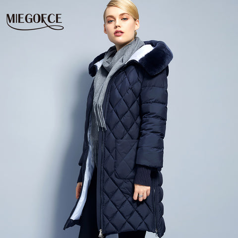 2018 New Collection Winter Womens Jacket Coat Original Fur Collar Women Parkas Fashion Brand Womens Cotton Padded Jacket
