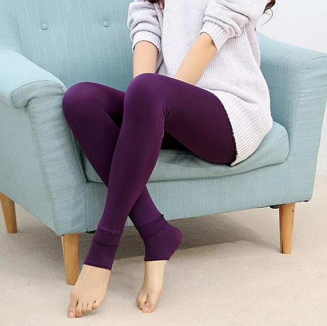 Women Leggings inside Thicken Fur Warm Leggings womens winter fleece legging pants female velvet leggins - Forefront Outfitters Inc.
