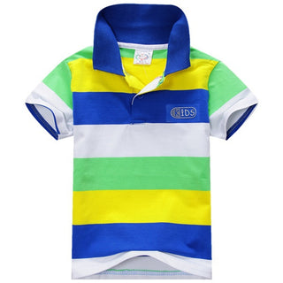 1 Piece Summer Boys Multi Color Short Sleeve Striped Cotton Tops Boy Clothes T Shirt Camisa 2018