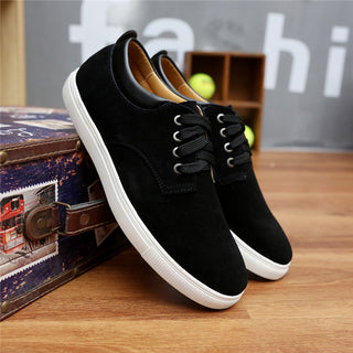 2018 New Fashion Autumn/Winter Suede Men Shoes Men Canvas Shoes Leather Casual Breathable Shoes Flats Big Size 38-49