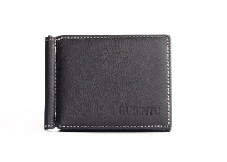 100% Genuine Leather Men Wallet Cowhide Male Money Clip Luxury Famous Brand Coins Pocket Purse