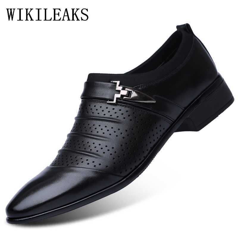 9017cf2b26d5 Hollow out oxfords formal shoes mens leather wedding shoes black heren  schoenen oxford shoes for men ...