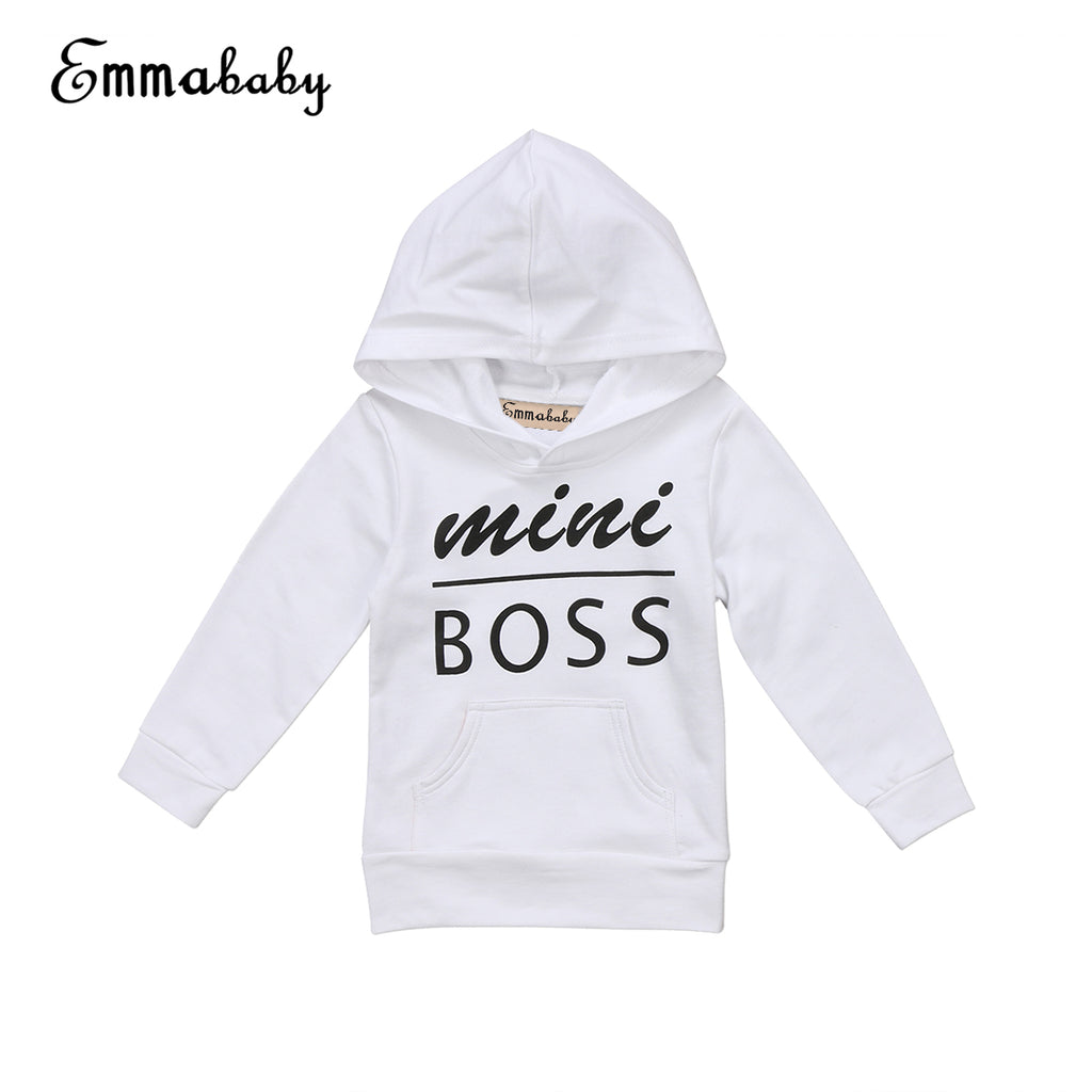 Babies Letter Hooded Pocket T-shirt Casual Toddler Newborn Baby Boy Girl Hoodie Tops Hooded Sweatshirt Outdoor 0-5Y Clothing