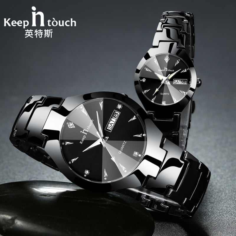 Luxury Lover Watches Quartz Calendar Dress Women Men Watch Couples Wristwatch Relojes Hombre 2018 With Box