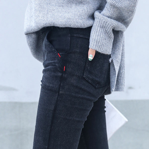 Skinny Jeans Woman 2018 New Spring Fashion Boyfriend Washed Elastic Denim Trousers Pencil Slim Capris Pants Imitation Jean Femme - Forefront Outfitters Inc.
