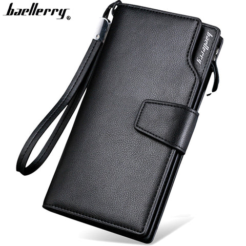 Top Quality leather long wallet men purse male clutch zipper around wallets men women money bag pocket multifunction - Forefront Outfitters Inc.