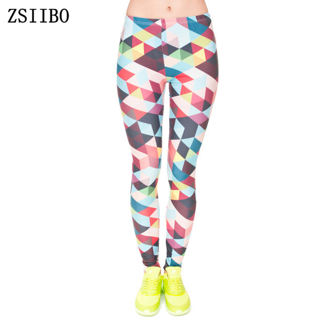 Women Fashion Legging Aztec Round Ombre Printing leggins Slim High Waist Leggings Woman Pants - Forefront Outfitters Inc.