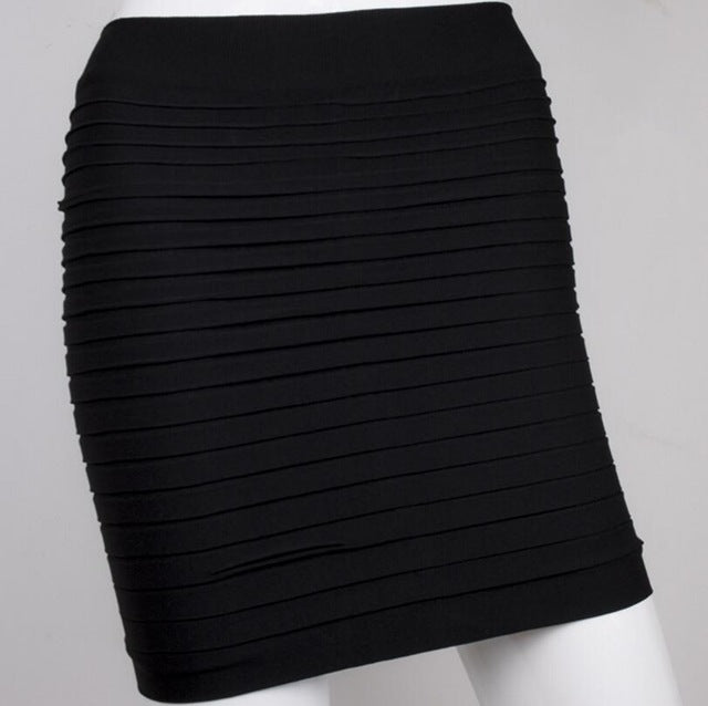 New Color Fashion 2018 Summer Ladies Skirt High Waist Candy Color Plus Large Elastic Pleated Skirt A-Line Skirt