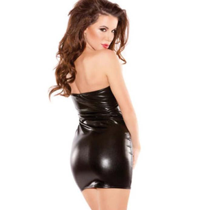 Women Sexy Hot Sleeveless Dress  Clubwear Stripper Dress - Forefront Outfitters Inc.