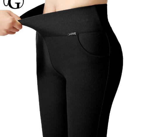 High quality Plus Size S- 5XL Lady High Waist control Leggings Fashion Women Slim Stretched comfortable Leggings