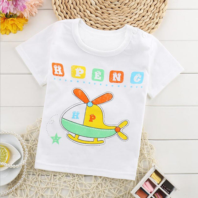 f4ccf92ed Summer Fashion Girls   Boys T Shirt Short Sleeve 2018 New Soft Childre