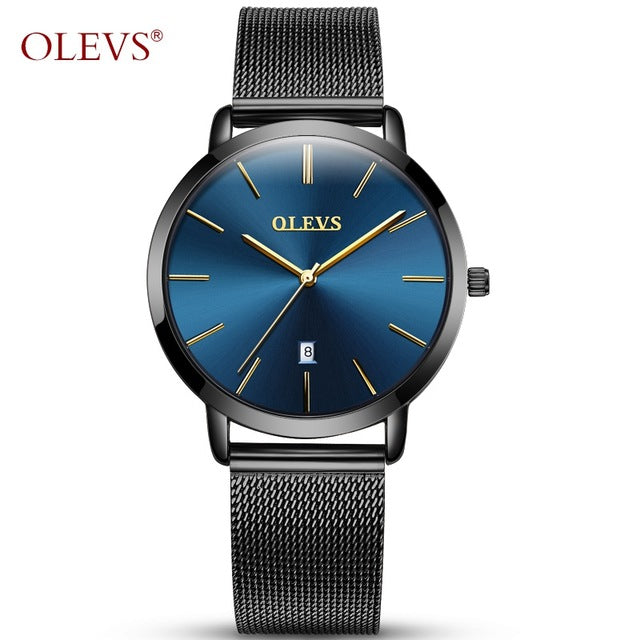 Original Watch OLEVS Upscale Design Stainless Steel Water Resistant Watches Women's ultra thin Clock Gold saat relogio feminino