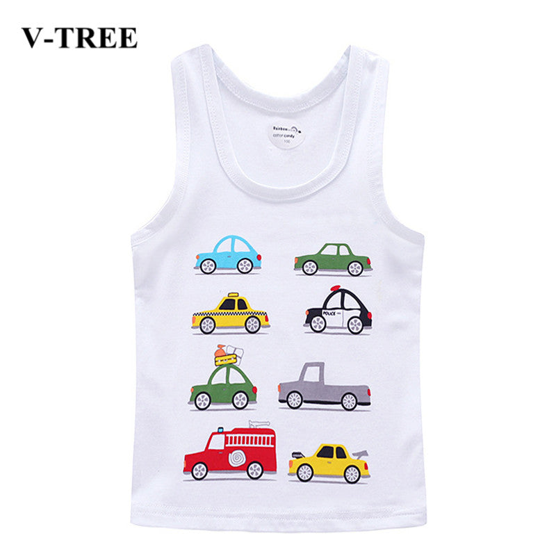 V-TREE Children T Shirts Cotton Kids T-shirt Printed Tees For Boys Girls Top Baby Clothing - Forefront Outfitters Inc.
