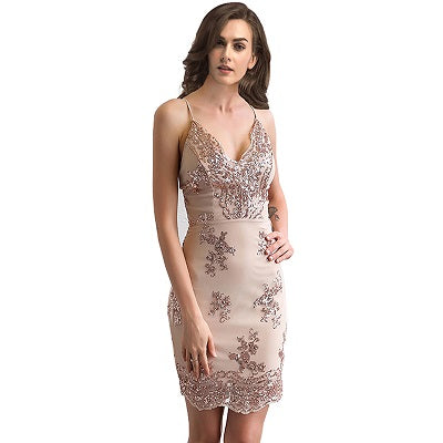 2018 New Sexy V-neck Backless Dress