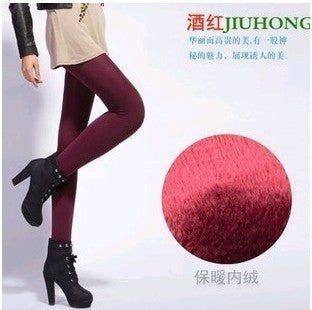 Hot 2018 New Fashion Women's Autumn And Winter High Elasticity And Good Quality Thick Velvet Pants Warm Leggings