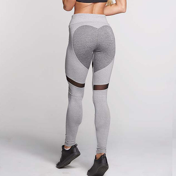Tresdin 2018 Women Fashion Gothic Push Up Ladies Mesh Pants Love Heart Black Leggings Casual Pants High Waist Sexy Leggings - Forefront Outfitters Inc.