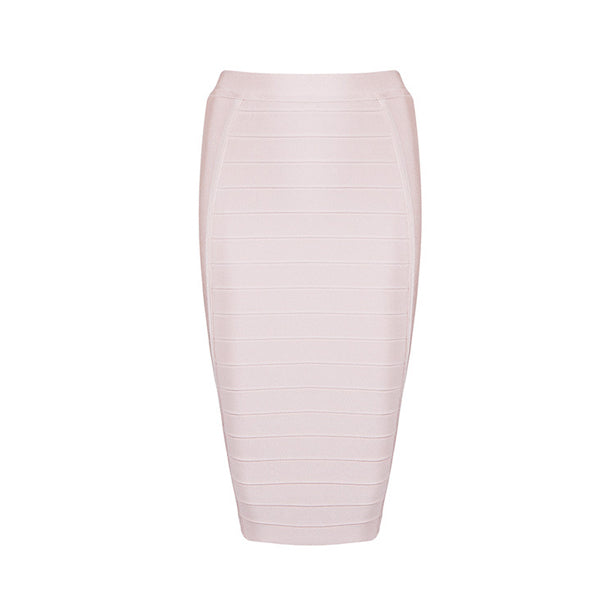 2018 New Sexy Pencil Bodycon Skirt Striped Knee-Length Bandage Skirts Wear To Work Summer