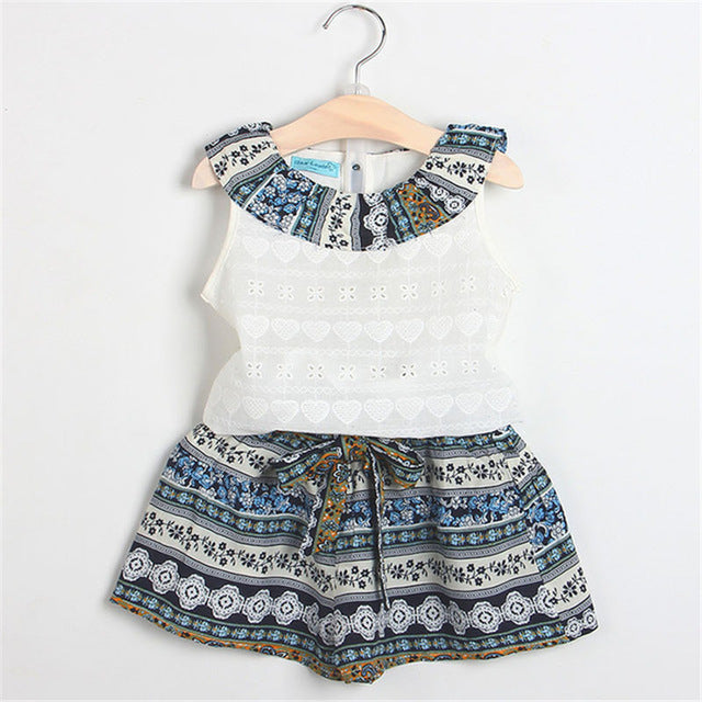 2f74f7ba4 2018 Summer New Baby Girls Clothing Sets Fashion Style Cartoon Kitten
